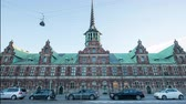 Lapso de tiempo de The Borsen  Stock Exchange - Copenhague Dinamarca