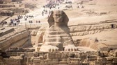 Time Lapse of the Sphinx Daytime at Giza - Egypt Stock Footage