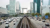 la defense : Time Lapse of Rail & Street Traffic at La Defense  - Paris France