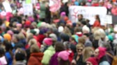 donald trump : Womens march anonymous crowd Stock Footage