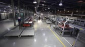 automat : Industrial interior, modern factory interior, Electrical Automated Guided Vehicles Platform