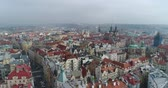 viena : Panoramic view from above on the Prague Castle. Aerial of the city, view from above on the cityscape of Prague. Flight over the city, top view, Old Town Square, Prague Vídeos