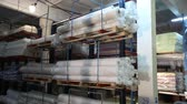 ingressou : Truck carry the goods, warehouse billets, wire, truck, shipping, electric, indoor, Industrial interior Vídeos