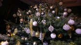 bombki : Christmas tree lights. Christmas tree, garland on a New Year, blinking lights, Christmas lights. New Years decorations, blurring