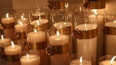 candlelight : Decorative candles, new year, christmas, new year decorations, dioctration at a New Years party Stock Footage