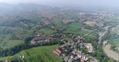 italiano : a small ancient Italian city, an Italian village from the air, a road in the mountains