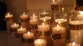 фитиль : Decorative candles, new year, christmas, new year decorations, dioctration at a New Years party Стоковые видеозаписи