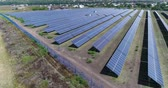 fotovoltaik : Panoramic view of a solar power plant, rows of solar panels, solar panels, top view, Aerial view to solar power plant, Industrial background on renewable resources theme