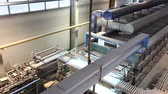 vezetett : Industrial interior, production of ceramic tiles, modern factory interior, conveyor, Time laps