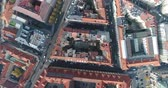viyana : Panoramic view from above on the Prague Castle, aerial of the city, Old Town, Prague