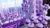 amoras : Sweets on buffet table, wedding, the table with sweets, dessert buffet, beautiful alcoholic shots