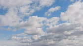 dakraam : Blue sky background with white clouds. Long shot
