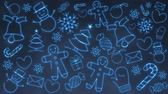 Christmas Background Icons Loop