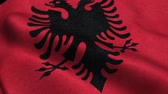 hükümet : Albania Flag Seamless Looping Waving Animation