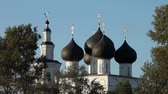кресты : Russian church Стоковые видеозаписи