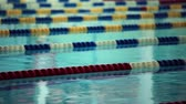 wet : empty swimming pool close to Loop ready File Stock Footage