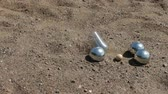 oynamak : game of petanque sport throwing balls Stok Video