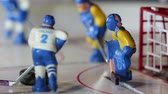 toy : ice hockey player scored a goal with the sound