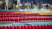 sval : Sports swimming pool at the finish races with sound