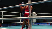 judge : St. Petersburg, Russia, November 23, 2016 Youth World Boxing Championship men, boxing match close-up