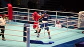 uppercut : St. Petersburg, Russia, November 23, 2016 Youth World Boxing Championship men, attack boxing match