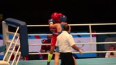 uppercut : St. Petersburg, Russia, November 23, 2016 Youth World Boxing Championship men 64 kg  RED - Cangelosi C, Italy: BLUE-Batavins B. Latvia.