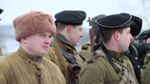 ランク : Group of armed people military uniform of  Soviet Army, Historical reconstruction Second World War