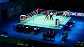 juiz : Boxing ring match time lapse tilf film with sound