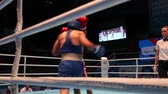 judge : St. Petersburg, Russia, November 23, 2016 Youth World Boxing Championship men Boxing match