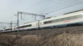 movimento borrado : high-speed passenger train