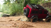 razzia : pickup truck off-road driving radio controlled toy car Stock mozgókép