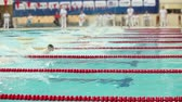 pływak : St. Petersburg, Russia, December 22-23, 2017  XI International swimming competition Vladimir Salnikov Cup Finish swim with the crawl of a man.
