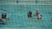goleiro : Water polo women, goal ball into the net Vídeos