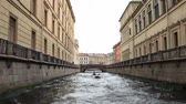 Travel to St.Petersburg Petersburg canals and embankments view of from the boat Stock Footage