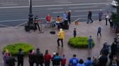 petersburg : Buskers Entertainment at St.Petersburg time lapse