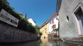 petite france : Time Lapse. Colmar, Alsace, France - Canal boats at Little Venice