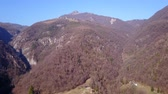 mavic : Drone aerial view of the mountains around Albino (Bergamo) in winter season. Landscape to Rena and Cornagiera mountain