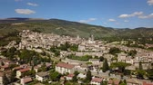 umbrie : Spello, one of the most beautiful small town in Italy. Drone aerial view of the village Dostupné videozáznamy