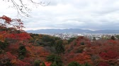 Beautiful view of Kyoto city, Japan in autumn. Seen from Kiyomizu temple.