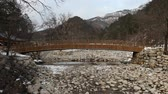 Korean styled wooden bridge in Seoraksan National park, Gangwon province, South Korea.
