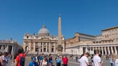 vaticano : Hyperlapse of St. Peters Square, Basilica of Saint Peter, Best view of Rome, Italy