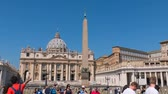 vaticano : Basilica of Saint Peter square Rome Lazio Italy in Hyperlapse