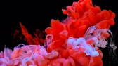abridor : Red and white paint underwater