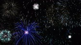 meia noite : Colorful fireworks in the night sky