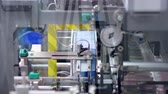 gyógyszertár : Pharmaceutical factory packaging equipment. Pharmaceutical packaging. Medical packaging manufacturing. Pharmaceutical industry. Packaging process at pharmaceutical plant