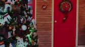 shallow depth of field : Christmas decoration, slowmotion, New Year