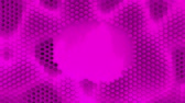 zlomenina : Abstract purple crystallized background. Honeycombs move like an ocean.