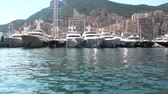embarcaram : Circular view of yachts embarked at the port,monaco