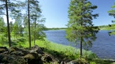 Gorgeous nature landscape with blue sky. Sweden, Europe. Beautiful backgrounds.