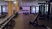 Beautiful view of well equipped fitness center. Healthy lifestyle concept. Enkoping. Sweden 02102019